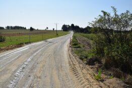Droga w Nowej Wsi przed modernizacją