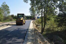 Droga w nowej Wsi w trakcie przebudowy