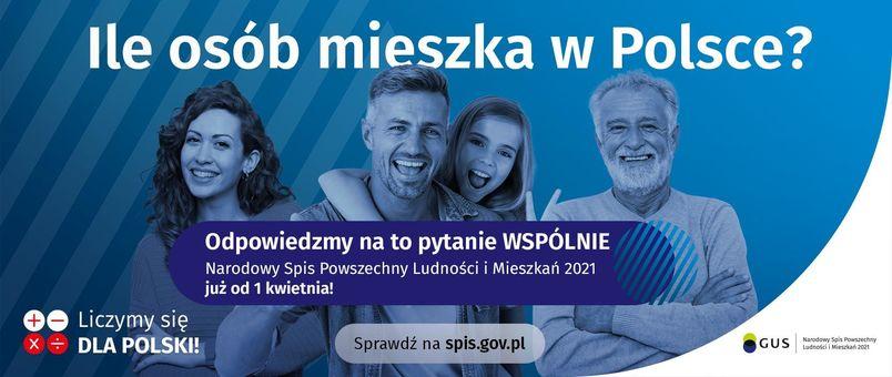 Banner informacyjny o Narodowym Spisie Powszechnym